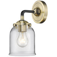 Innovations Lighting 284-1W-BAB-G52-LED Small Bell LED 13 inch Black Antique Brass Sconce Wall Light Nouveau