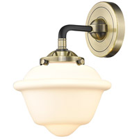 Innovations Lighting 284-1W-BAB-G531 Small Oxford 1 Light 8 inch Black Antique Brass Sconce Wall Light Nouveau