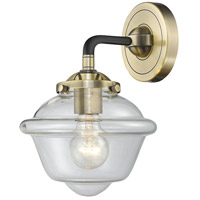 Innovations Lighting 284-1W-BAB-G532-LED Small Oxford LED 8 inch Black Antique Brass Sconce Wall Light Nouveau