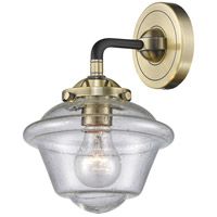 Innovations Lighting 284-1W-BAB-G534 Small Oxford 1 Light 8 inch Black Antique Brass Sconce Wall Light Nouveau