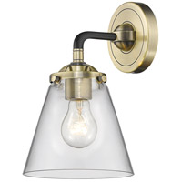 Innovations Lighting 284-1W-BAB-G62 Small Cone 1 Light 6 inch Black Antique Brass Sconce Wall Light Nouveau