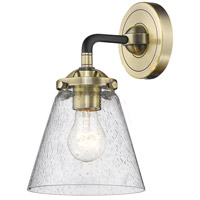 Innovations Lighting 284-1W-BAB-G64 Small Cone 1 Light 14 inch Black Antique Brass Sconce Wall Light Nouveau