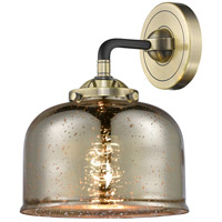 Innovations Lighting 284-1W-BAB-G78-LED Large Bell LED 8 inch Black Antique Brass Sconce Wall Light Nouveau