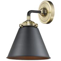 Innovations Lighting 284-1W-BAB-M13-BK Appalachian 1 Light 16 inch Black Antique Brass Sconce Wall Light Nouveau
