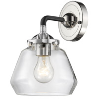 Innovations Lighting 284-1W-BPN-G172-LED Fulton LED 7 inch Black Polished Nickel Sconce Wall Light Nouveau