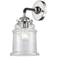 Innovations Lighting 284-1W-BPN-G182 Canton 1 Light 14 inch Black Polished Nickel Sconce Wall Light Nouveau