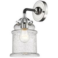 Innovations Lighting 284-1W-BPN-G184 Canton 1 Light 14 inch Black Polished Nickel Sconce Wall Light Nouveau