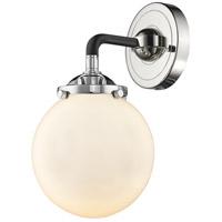 Innovations Lighting 284-1W-BPN-G2 Halophane 1 Light 17 inch Black Polished Nickel Sconce Wall Light Nouveau