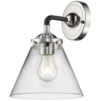 Innovations Lighting 284-1W-BPN-G42 Large Cone 1 Light 16 inch Black Polished Nickel Sconce Wall Light Nouveau