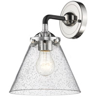 Innovations Lighting 284-1W-BPN-G44 Large Cone 1 Light 16 inch Black Polished Nickel Sconce Wall Light Nouveau