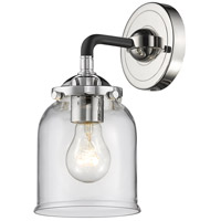 Innovations Lighting 284-1W-BPN-G52 Small Bell 1 Light 5 inch Black Polished Nickel Sconce Wall Light Nouveau