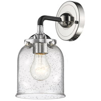 Innovations Lighting 284-1W-BPN-G54 Small Bell 1 Light 13 inch Black Polished Nickel Sconce Wall Light Nouveau