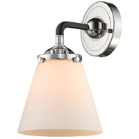 Innovations Lighting 284-1W-BPN-G61 Small Cone 1 Light 14 inch Black Polished Nickel Sconce Wall Light Nouveau