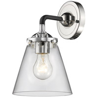 Innovations Lighting 284-1W-BPN-G62 Small Cone 1 Light 6 inch Black Polished Nickel Sconce Wall Light Nouveau