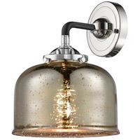 Innovations Lighting 284-1W-BPN-G78-LED Large Bell LED 8 inch Black Polished Nickel Sconce Wall Light Nouveau