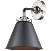 Innovations Lighting 284-1W-BPN-M13-BK-LED Appalachian LED 16 inch Black Polished Nickel Sconce Wall Light Nouveau