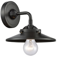 Innovations Lighting 284-1W-OB-M5-OB Railroad 1 Light 8 inch Oil Rubbed Bronze Sconce Wall Light, Nouveau