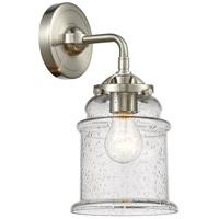 Innovations Lighting 284-1W-SN-G184 Canton 1 Light 6 inch Satin Nickel Sconce Wall Light Nouveau