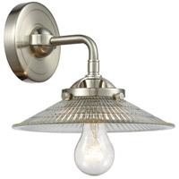 Innovations Lighting 284-1W-SN-G2-LED Halophane LED 17 inch Brushed Satin Nickel Sconce Wall Light Nouveau