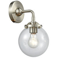 Innovations Lighting 284-1W-SN-G202-6-LED Beacon LED 14 inch Brushed Satin Nickel Sconce Wall Light Nouveau