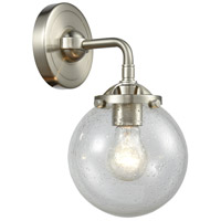Innovations Lighting 284-1W-SN-G204-6-LED Beacon LED 14 inch Brushed Satin Nickel Sconce Wall Light Nouveau