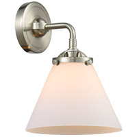 Innovations Lighting 284-1W-SN-G41 Large Cone 1 Light 8 inch Satin Nickel Sconce Wall Light Nouveau