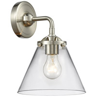 Innovations Lighting 284-1W-SN-G42 Large Cone 1 Light 8 inch Satin Nickel Sconce Wall Light Nouveau