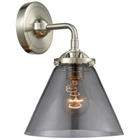 Innovations Lighting 284-1W-SN-G43 Large Cone 1 Light 8 inch Satin Nickel Sconce Wall Light Nouveau