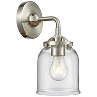 Innovations Lighting 284-1W-SN-G52 Small Bell 1 Light 5 inch Satin Nickel Sconce Wall Light Nouveau