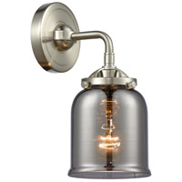 Innovations Lighting 284-1W-SN-G53-LED Small Bell LED 5 inch Satin Nickel Sconce Wall Light, Nouveau