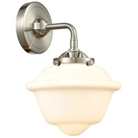 Innovations Lighting 284-1W-SN-G531 Small Oxford 1 Light 8 inch Satin Nickel Sconce Wall Light Nouveau