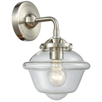 Innovations Lighting 284-1W-SN-G532 Small Oxford 1 Light 8 inch Satin Nickel Sconce Wall Light Nouveau