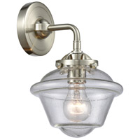 Innovations Lighting 284-1W-SN-G534 Small Oxford 1 Light 8 inch Satin Nickel Sconce Wall Light Nouveau