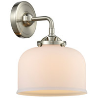 Innovations Lighting 284-1W-SN-G71-LED Large Bell LED 8 inch Satin Nickel Sconce Wall Light Nouveau