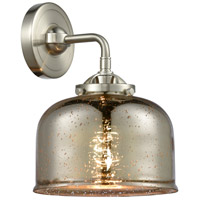 Innovations Lighting 284-1W-SN-G78-LED Large Bell LED 8 inch Satin Nickel Sconce Wall Light Nouveau