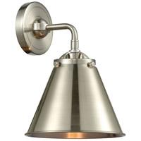 Innovations Lighting 284-1W-SN-M13-SN Appalachian 1 Light 8 inch Satin Nickel Sconce Wall Light Nouveau
