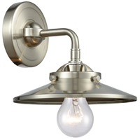 Satin Nickel Steel Railroad Wall Sconces