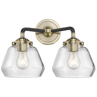 Innovations Lighting 284-2W-BAB-G172-LED Fulton LED 15 inch Black Antique Brass Bath Vanity Light Wall Light Nouveau