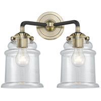 Innovations Lighting 284-2W-BAB-G182-LED Canton LED 14 inch Black Antique Brass Bath Vanity Light Wall Light Nouveau