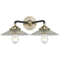 Innovations Lighting 284-2W-BAB-G2-LED Halophane LED 17 inch Black Antique Brass Bath Vanity Light Wall Light Nouveau