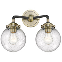 Baldwin 2 Light 14 inch Black and Antique Brass Wall Sconce Wall Light
