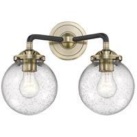 Innovations Lighting 284-2W-BAB-G204 Baldwin 2 Light 14 inch Black and Antique Brass Wall Sconce Wall Light