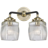 Innovations Lighting 284-2W-BAB-G302-LED Colton LED 14 inch Black Antique Brass Bath Vanity Light Wall Light Nouveau
