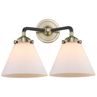 Innovations Lighting 284-2W-BAB-G41-LED Large Cone LED 16 inch Black Antique Brass Bath Vanity Light Wall Light Nouveau