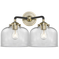 Innovations Lighting 284-2W-BAB-G72-LED Large Bell LED 16 inch Black Antique Brass Bath Vanity Light Wall Light Nouveau