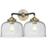 Innovations Lighting 284-2W-BAB-G74-LED Large Bell LED 16 inch Black Antique Brass Bath Vanity Light Wall Light Nouveau