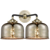 Innovations Lighting 284-2W-BAB-G78 Large Bell 2 Light 16 inch Black Antique Brass Bath Vanity Light Wall Light Nouveau