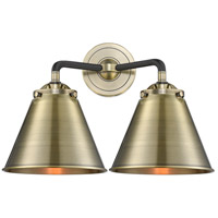 Innovations Lighting 284-2W-BAB-M13-AB Appalachian 2 Light 16 inch Black Antique Brass Bath Vanity Light Wall Light Nouveau