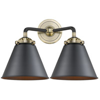 Innovations Lighting 284-2W-BAB-M13-BK Appalachian 2 Light 16 inch Black Antique Brass Bath Vanity Light Wall Light Nouveau