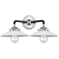 Innovations Lighting 284-2W-BPN-G1-LED Halophane LED 17 inch Black Polished Nickel Bath Vanity Light Wall Light Nouveau